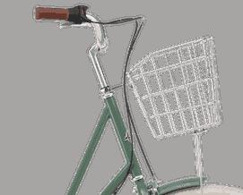 Cykelkorg silver